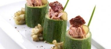 Finto maki di zucchine e tonno
