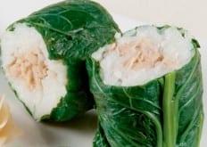 Fagottini con ventresca di tonno e riso