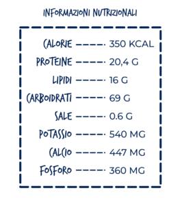 riso venere con tonno tabella nutrizionale