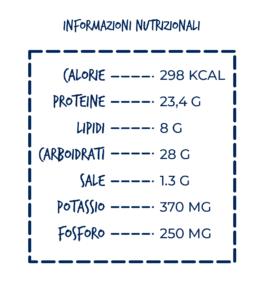 insalata invernale con tonno nostromo leggero tabella nutrizionale